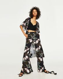 Zara Flared Printed Trousers  at Zara