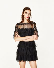 Zara Tulle and Lace Dress at Zara