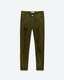 Zara Skinny Mid-Rise Trousers at Zara