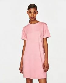 Zara Suede Effect Dress at Zara