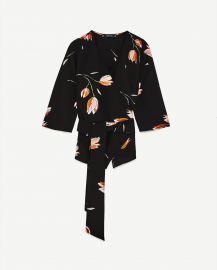 Zara Tulip Print Blouse at Zara