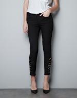 Zara studded trousers worn on PLL at Zara