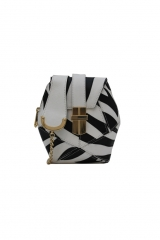 Zebra Atomic Box Bag at Angel Jackson