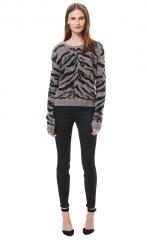 Zebra Pullover at Rebecca Taylor