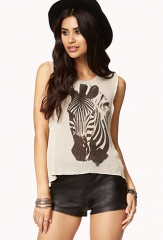 Zebra muscle tee at Forever 21