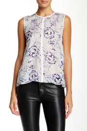 Zen Flower Silk Blouse at Nordstrom Rack