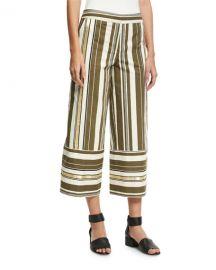 Zeus and Dione Striped Crop-Leg Pants at Bergdorf Goodman