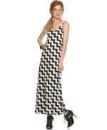 Zig zag stripe maxi dress at Macys