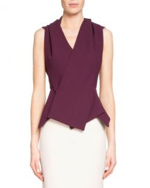 Zillow Sleeveless Pleated Top by Roland Mouret at Bergdorf Goodman