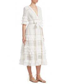 Zimmermann - Corsair Ruffle Midi Dress at Saks Fifth Avenue