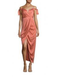 Zimmermann - Winsome Draped Cocktail Midi Dress at Saks Off 5th