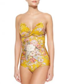 Zimmermann Confetti Floral-Print One-Piece Swimsuit at Neiman Marcus