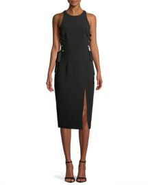 Zimmermann Laced In Sleeveless Split Midi Dress at Neiman Marcus