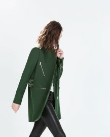 Zip Buckle Coat at Zara