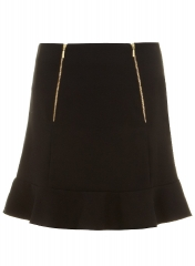 Zip Detail Skirt at Dorothy Perkins