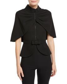 Zip-Front Cape-Sleeve Jacket at Bergdorfgoodman