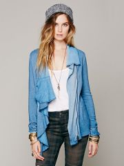 Zip Ruffle Jacket at Free People