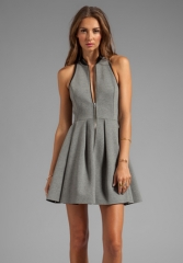 Zip front dress by T by Alexander Wang at Revolve