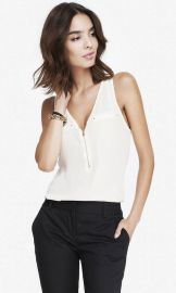 Zip front tank at Express