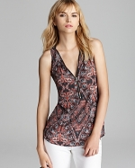 Zip front tank top by Aqua at Bloomingdales