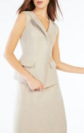 Zip front vest at Bcbg