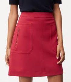 Zip pocket skirt at Loft