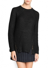 Zip sweater at Mango