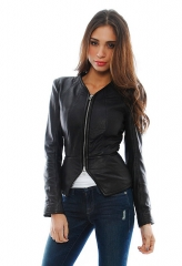 Zipped Leather Jacket by Faith Connexion at Singer 22
