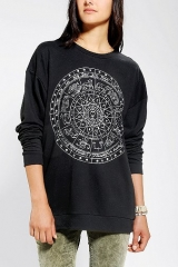 Zodiac Dial Sweatshirt at Urban Outfitters