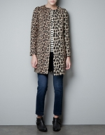Zoe Harts leopard coat at Zara at Zara
