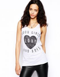 Zoe Karssen Good Girls Love Bad Boys Tank Top at Asos