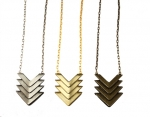 Zoe's chevron necklace by Nissa Jewelry at Nissa