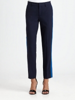 Zoe's contrast stripe pants at Saks at Saks Fifth Avenue