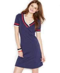 Zooey Deschanel for Tommy Hilfiger Short-Sleeve V-Neck Dress - Dresses - Women - Macys at Macys