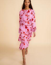 Zuma Asymmetrical Midi Dress by Cynthia Rowley at Cynthia Rowley