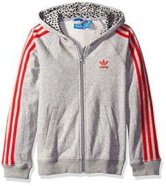 adidas Originals Girls Big Girls Young Wild and Free Trefoil Hoodie at Amazon