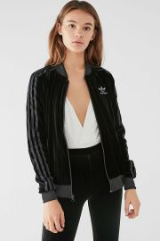 adidas Originals Velvet Track Top at Urban Outfitters