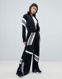 adidas Originals X Danielle Cathari Deconstructed Track Pants In Black at asos com at Asos