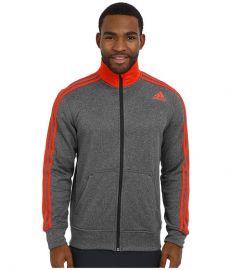 adidas Ultimate Fleece Track Jacket Night GreyBold Orange at 6pm