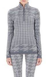 adidas x Stella McCartney Houndstooth Jacquard Sweater Jacket at Barneys