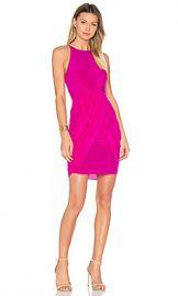 aijek Eunice Pleated Tulip Dress in Fuchsia from Revolve com at Revolve