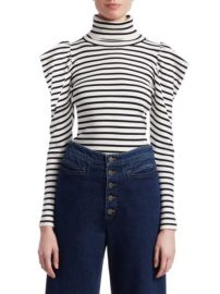 alc BAKER STRIPED SWEATER at Saks Fifth Avenue