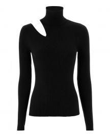 alc Kara Cutout Black Knit Sweater at Intermix