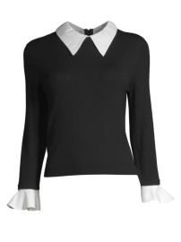 alice and olivia Aster Ruffle Cuff Sweater at Saks Fifth Avenue