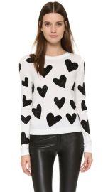 alice   olivia Carey Hearts Crew Neck Sweater at Shopbop