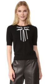 alice   olivia Danika Sweater with Oversized Bow at Shopbop