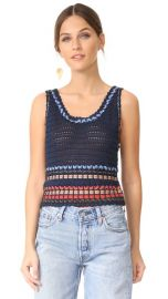 alice   olivia Dorian Ribbon Weaved Tank at Shopbop