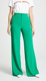 alice   olivia Dylan High Waisted Clean Fit Pants at Shopbop