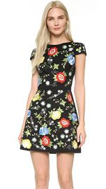 alice   olivia Ellen Embroidered Dress at Shopbop