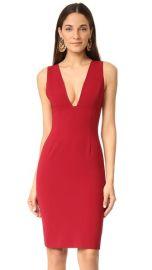 alice   olivia Esmira Fitted V Neck Dress at Shopbop